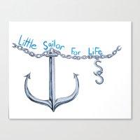 sam smith Canvas Prints featuring Sam Little Sailor by Annette Jimerson