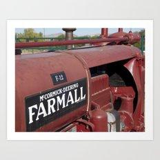 Farmall Equipment Art Print