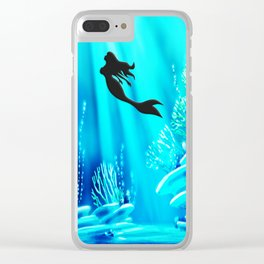 Light Of Mermaid Clear iPhone Case