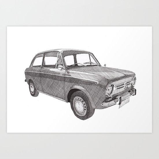 Fiat 850 Art Print