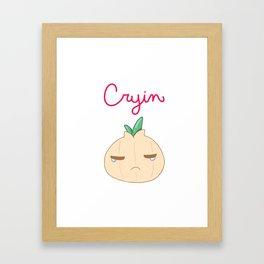 Cryin' Framed Art Print