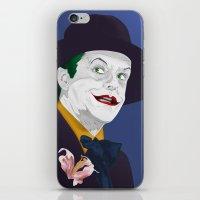 jack nicholson iPhone & iPod Skins featuring Joker Nicholson by FSDisseny