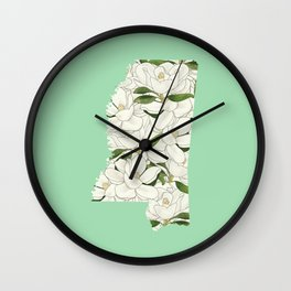 Mississippi in Flowers Wall Clock