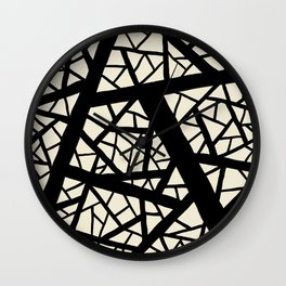 Straight lines crossed path Wall Clock