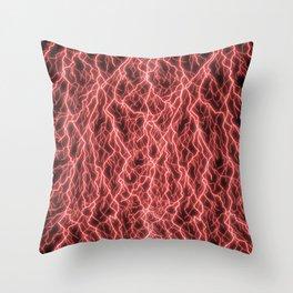 Crimson Storm Throw Pillow