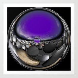 circular images on black -10- Art Print