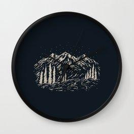 Mounain Forest Wall Clock