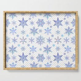 Snowflakes #1 Serving Tray