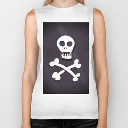 Pirate Skull and crossbones flag Biker Tank