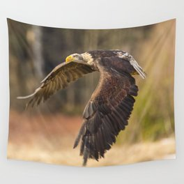 Bald Eagle in Flight Wall Tapestry