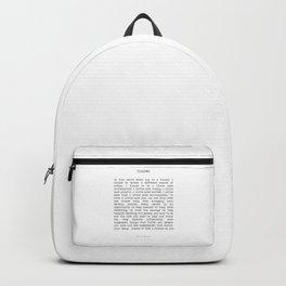 Take Chances Backpack