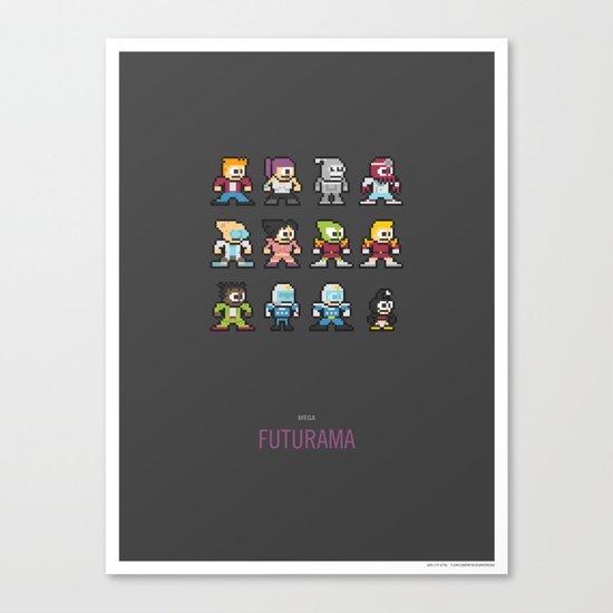 Mega Futurama Canvas Print