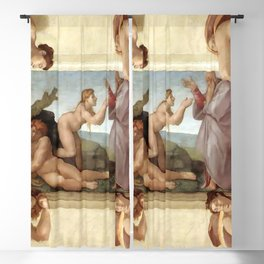 "Michelangelo ""Creation of Eve"" Blackout Curtain"