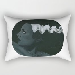 Frankenstein's bride on vinyl record print Rectangular Pillow