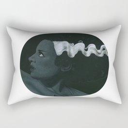 Frankenstein's bride on vinyl record print Rectangular Pillow