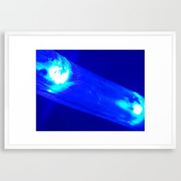 Blue Slide Framed Art Print