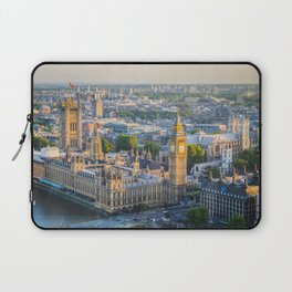 View of Big Ben and Houses of Parliament from London Eye | Europe UK City Urban Landscape Photography Laptop Sleeve