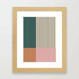 Color Block Lines V Framed Art Print