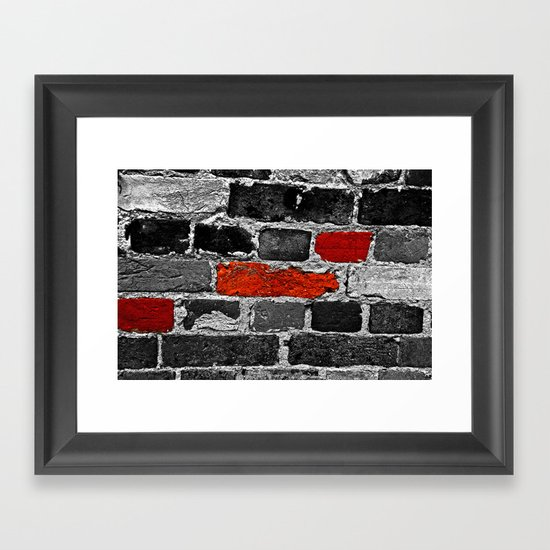 OTHER BRICKS IN THE WALL Framed Art Print
