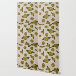 Falling Roses (yellow) Wallpaper