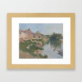 La berge ; Les Andelys Framed Art Print
