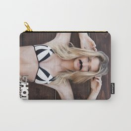 Mustache Movember Wood from Hot Fuzz Babes in Mustache Carry-All Pouch