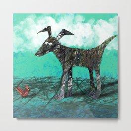 Stinky Dog Metal Print