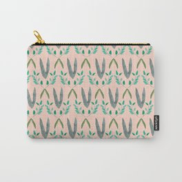 Watercolor Leafy Pattern Carry-All Pouch