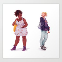 Tess and Claire Art Print