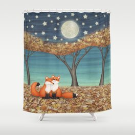 cuddly foxes Shower Curtain