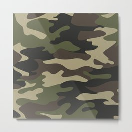 military camouflage-4k Metal Print