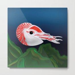 In the sea: Nautilus Metal Print