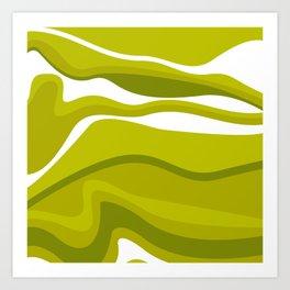 Pesto Green Art Print