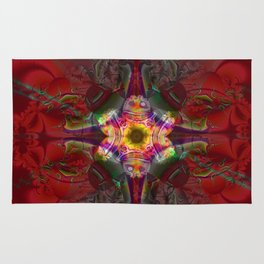 Sedona Red- Wall Art- Sacred Geometry- Fractal Art- Rug