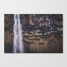 Waterfall and Basalt Rocks Canvas Print