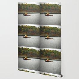 Boat Passing Light House Wallpaper