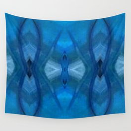 Pattern III Blue Wall Tapestry