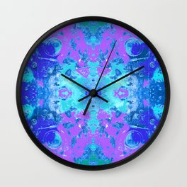 95 - Ice colour abstract pattern Wall Clock