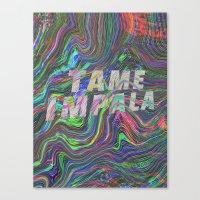 tame impala Canvas Prints featuring TAME IMPALA by Blaz Rojs