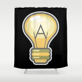 Atheism Logo Shower Curtain