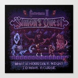 Simon's Vania Castle Quest Canvas Print