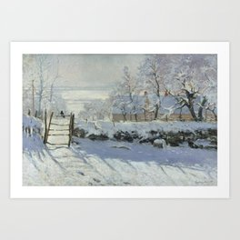 Monet, The Magpie (La Pie) (Die Elster) 1868-1869 Art Print