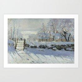 Monet, The Magpie (La Pie) (Die Elster) 1868-1869 Art Print