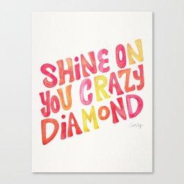 Shine On Your Crazy Diamond – Pink & Melon Palette Canvas Print