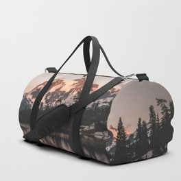 Alpenglow - Mountain Reflection - Nature Photography Duffle Bag