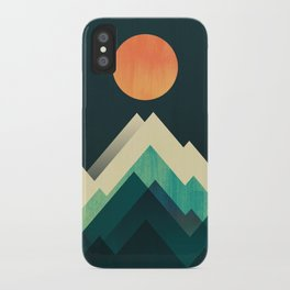 Ablaze on cold mountain iPhone Case