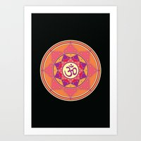 ohm Art Prints featuring Ohm by TypicalArtGuy