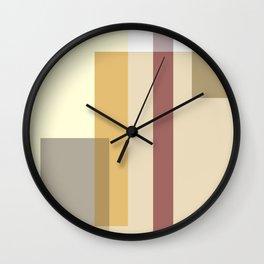 Color Harmony Orange Wall Clock