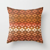copper Throw Pillows featuring Copper by Lyle Hatch