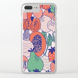 Fresh fruits and veggies Clear iPhone Case